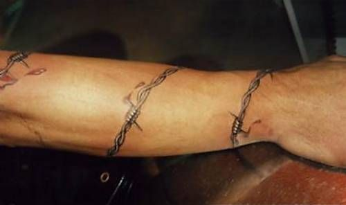 17 best images about ink on pinterest horseshoe tattoos for Barb wire tattoos arm