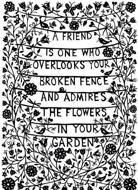 METAPHOR A Friend Is One Who Overlooks Your Broken Fence And Admires The  Flowers In Your Garden. So True! Great Friends See The Best In You, And  Overlook ...