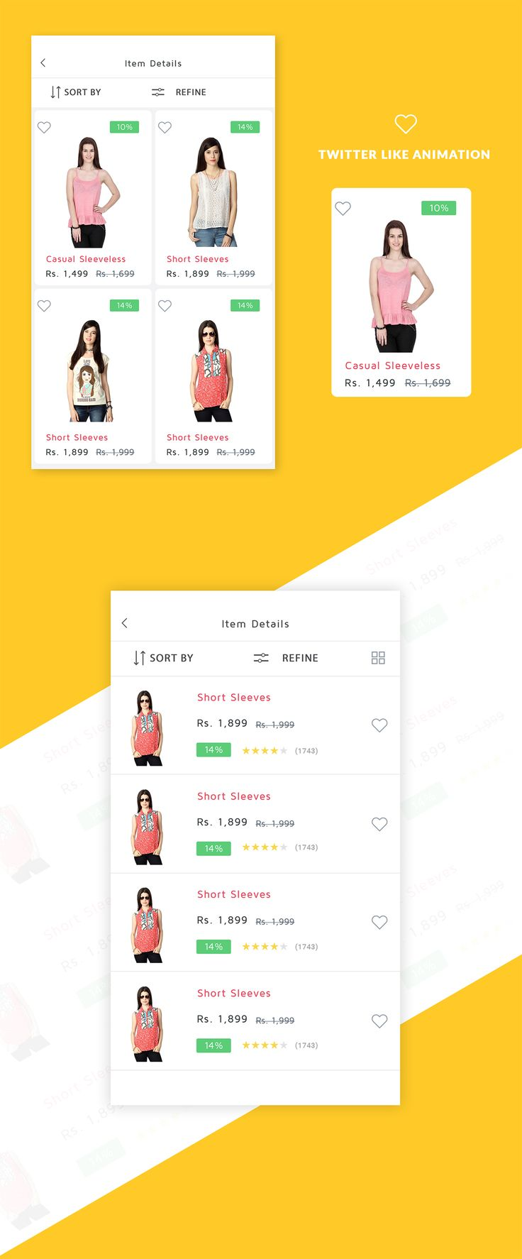 "Ecommerce Items in list and grid view, supported in android and photoshop. Download today from Code canyon ""Shoppy Ecommerce"""
