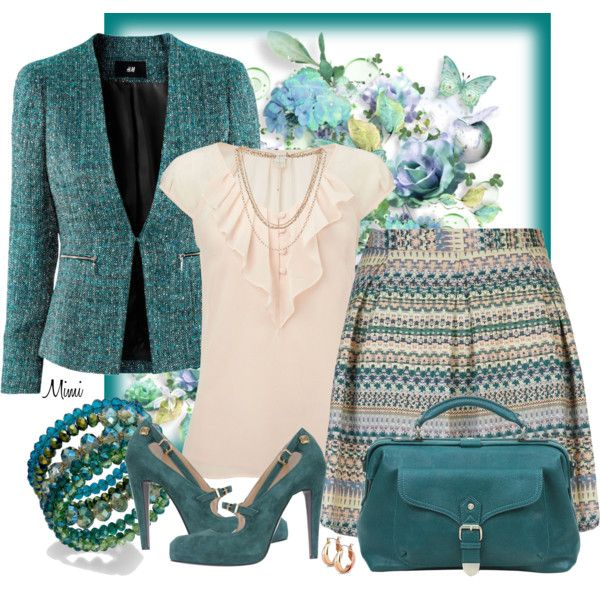 """""""Jaded Aztec"""" by myfavoritethings-mimi on Polyvore Not quite-so-formal office outfit!"""