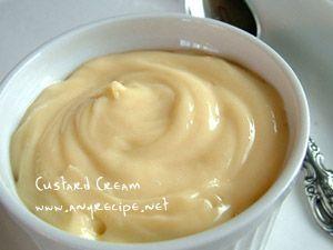 How to make Custard Cream, Custard Cream Filling for Cream Puffs and Cream Pies recipe