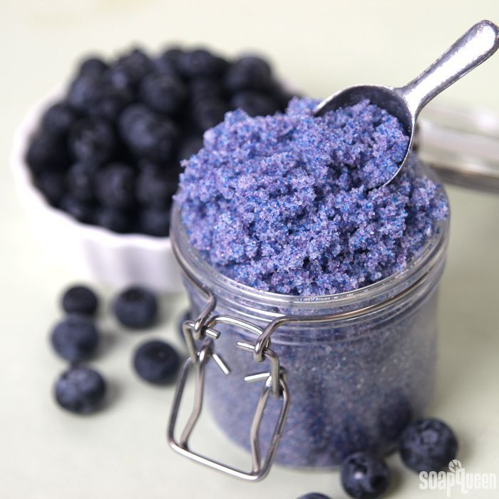 This Blueberry Jam Sugar Scrub contains granulated sugar and jojoba beads for gentle exfoliation and color. Fractionated coconut oil gives it skin loving properties.