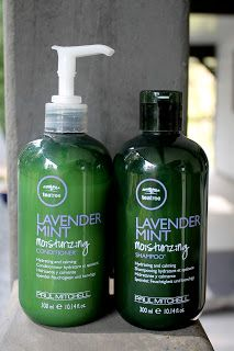 Current hair care favs: Paul Mitchell Lavender Mint shampoo and conditioner