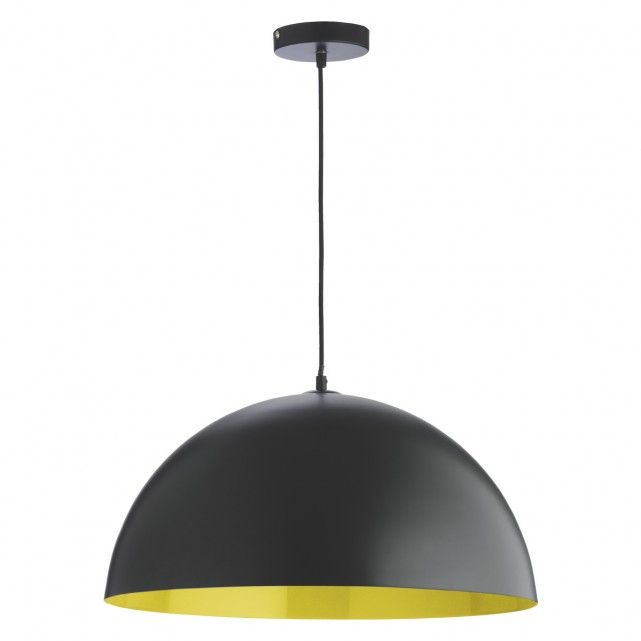 SAMUEL Black and yellow metal ceiling light