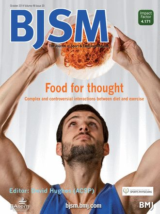 BJSM Volume 48 Issue 20 | October 2014 - Food for thought: Complex and controversial interactions between diet and exercise.