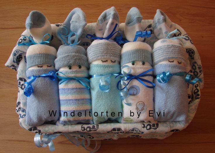 Windelbabys+'Boy',+die+etwas+andere+Windeltorte!+von+Windeltorten+By+Evi+auf+DaWanda.com