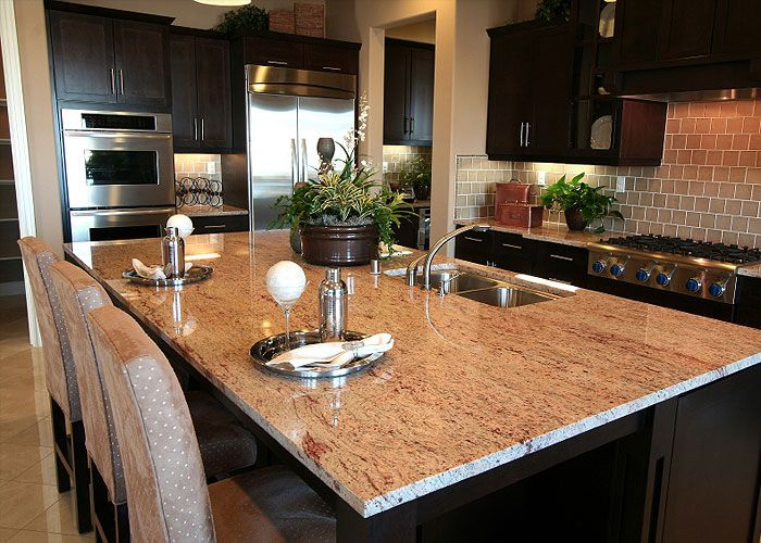 Kitchen Island Granite 10 best exotic pink granite countertops images on pinterest