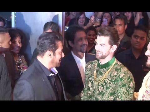 Salman Khan At Neil Nitin Mukesh & Rukmini Sahay's Grand Wedding Reception.