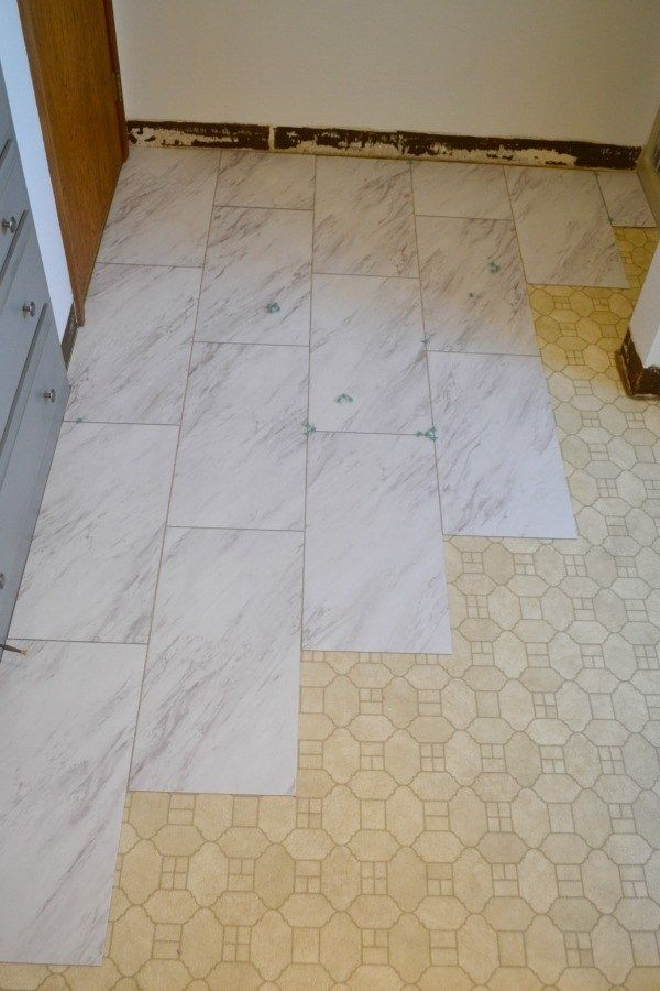 How To Install Vinyl L And Stick Tile Flooring Bathroom