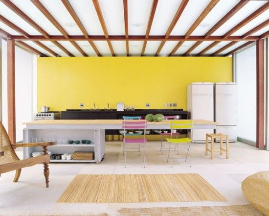 Yellow Accent wall  Interior Obsessions – Brights | papernstitch