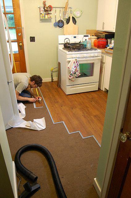 Installing Temporary Vinyl Plank Flooring