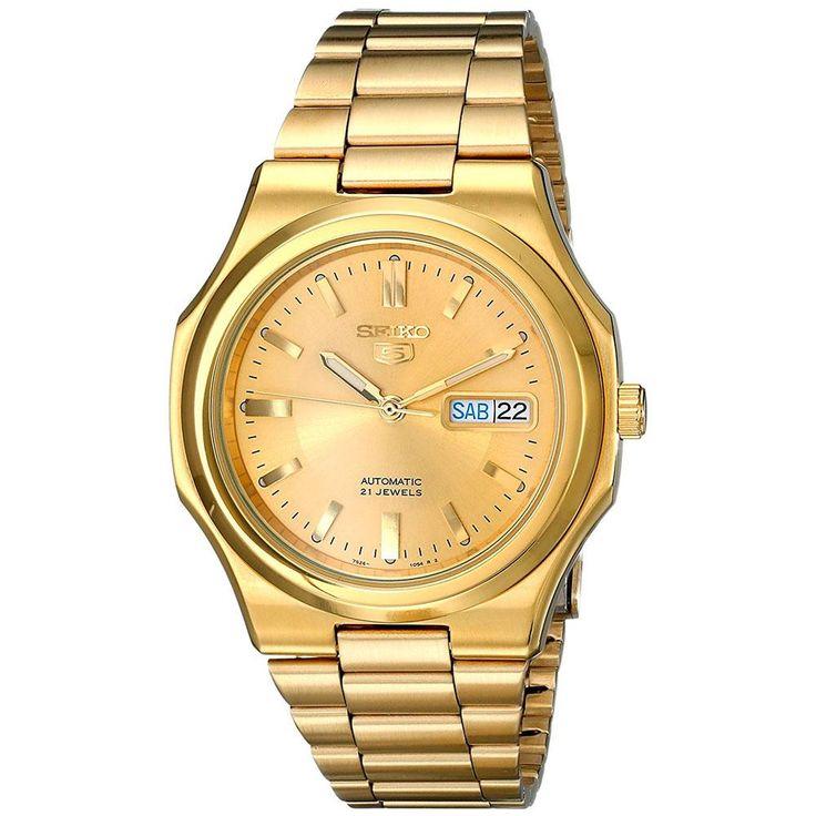 Seiko Men's SNKK52 Gold-Tone Seiko 5 Automatic Watch