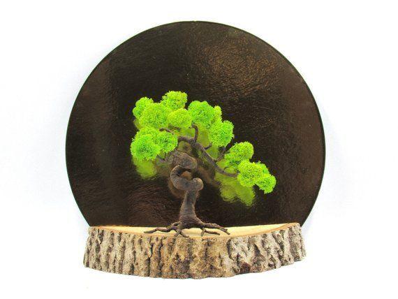 Mini Giardino Zen Da Tavolo Con Pietre In Piedi Statua In