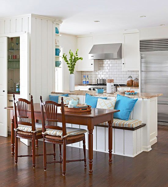 Small Kitchen Island Bench: Ideas For Transitional Elements And Room Dividers