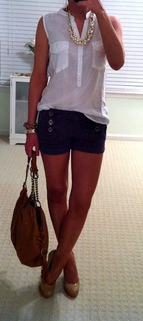 Perfect combination of shorts and heels