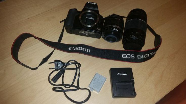 Loue appareil photo canon 1000 D en bon état avec 2 zooms (18-55 mm et 75-300 mm) avec sacoche de transport et chargeur pour la batterie.Pas de carte SD fournie.