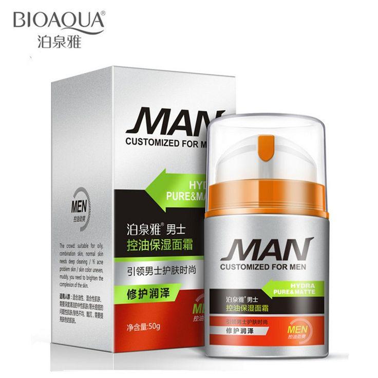 BIOAQUA Marke Männer Hautpflege Feuchtigkeitsspendende Öl-control Gesichtscreme Feuchtigkeitsspendende Anti-Aging Anti-falten Whitening Tagescreme 50g