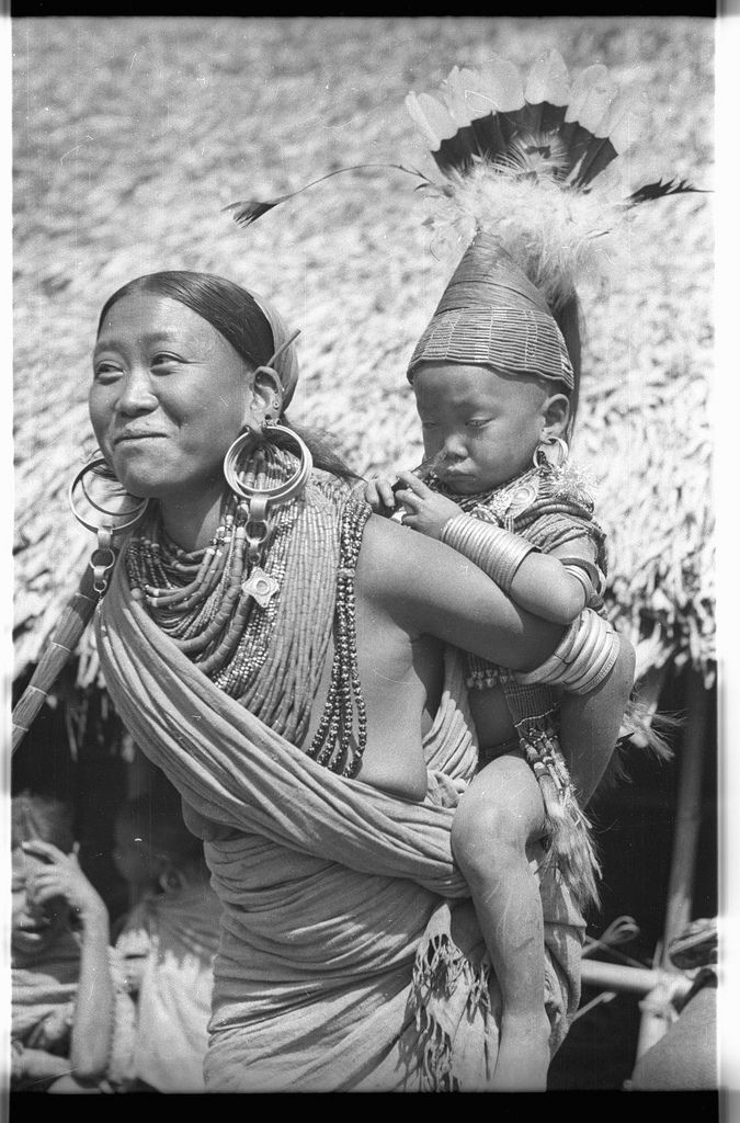 Portrait of the Konyak Naga chief's wife and child | Flickr - Photo Sharing!