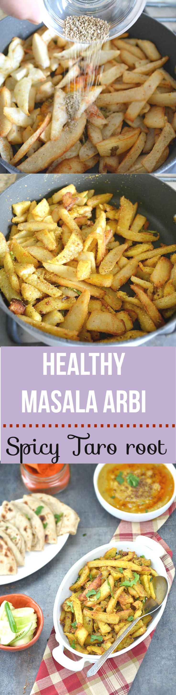 Dry Arbi Masala - Pan tossed crispy Masala Arbi. Deliciously yum and super easy to cook. Pair it with your favorite dal and create a yum dinner tonight!