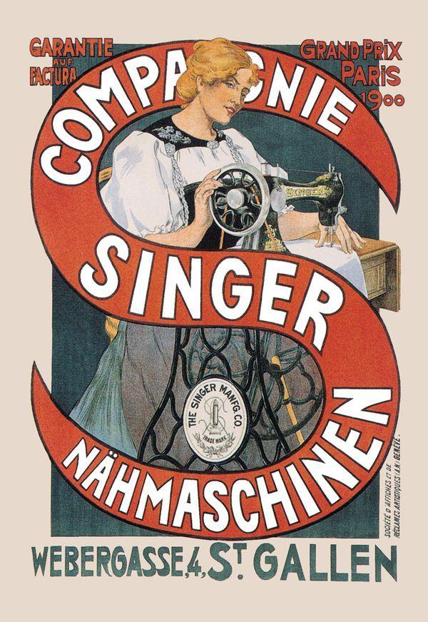 Singer Sewing Machine Advertisement 1900 Singer Sewing Machine Sewing Art Singer Sewing