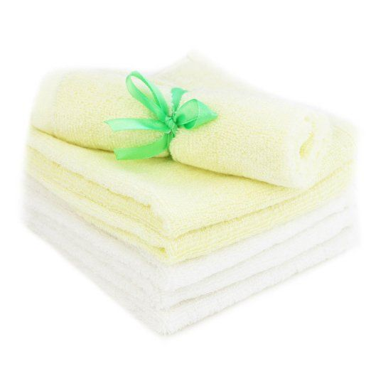 Bamboo Baby Washcloths , Luxury and Comfort - 100% Natural Hypoallergenic 6 Pack Organic Towels - Ultra Soft , Absorbent & Reusable Wipes - Best for Eczema & Sensitive Skin - Perfect Baby Shower Gift