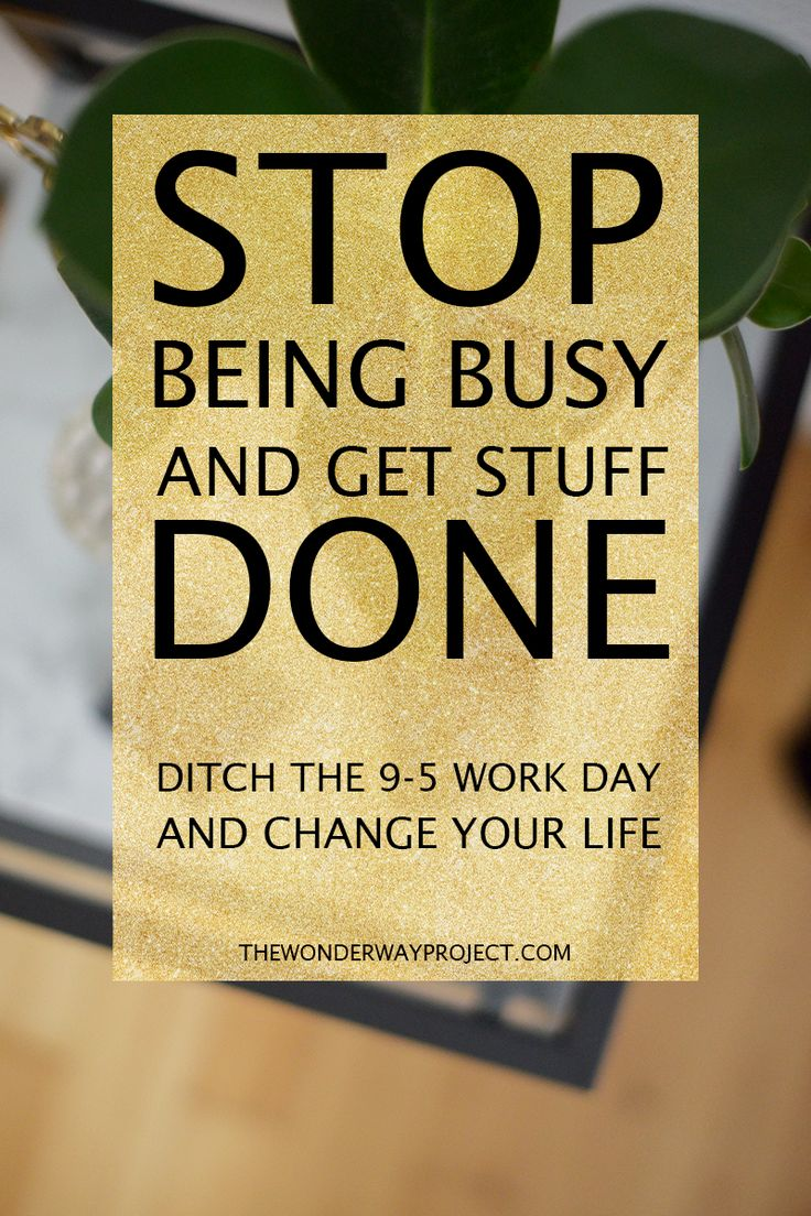 Is 9-5 the only way to roll? No! There are other (better) ways to plan your work day! By changing the way I work, I've truly changed my life.