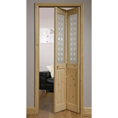 Canterbury Geo Knotty Pine 2 Lite Bifold Interior Door