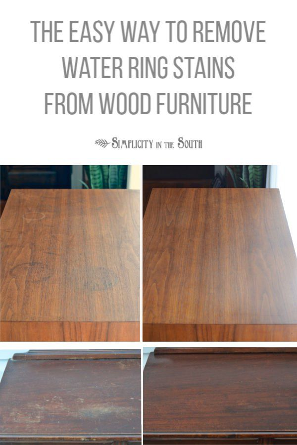 How To Remove Water Stains From Wood Furniture Cleaning Painted