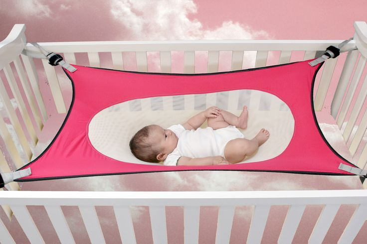 Innovative baby hammock product / infant safety bed like floating in the clouds, safe sleep for baby. Rest, Assured.