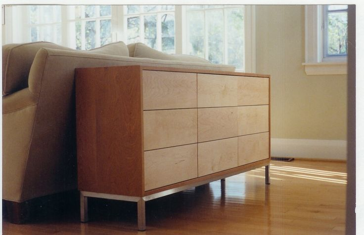 cherry veneer and maple solids - Custom Made Modern Chest Of Drawers