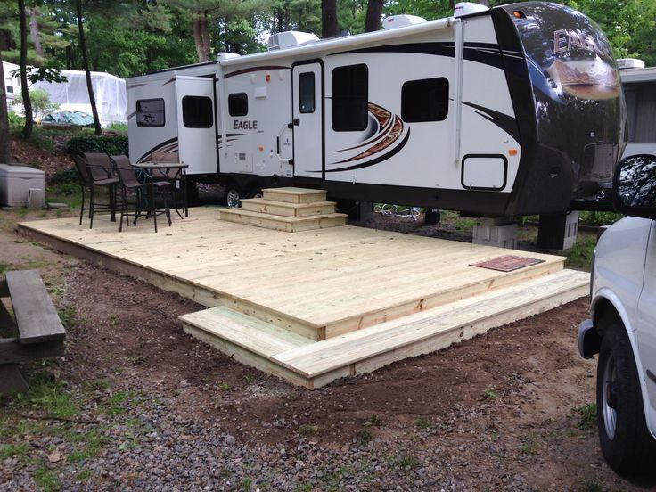 148 best images about seasonal campsite ideas on pinterest for Rv decks designs