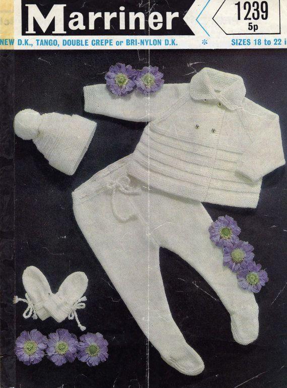 Marriner Vintage Knitting Pattern Pram Set by DukehamDesigns
