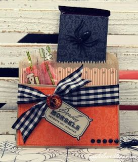 Halloween treat bags. Would be fun to use lunch sacks.
