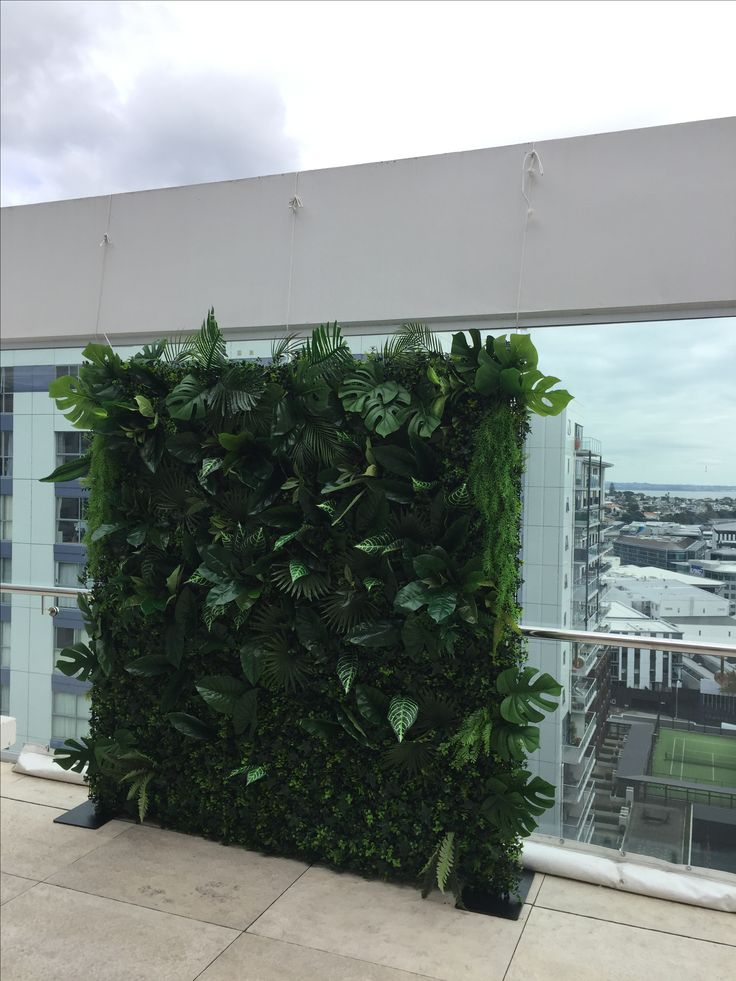 Our stunning foliage tropical flower wall