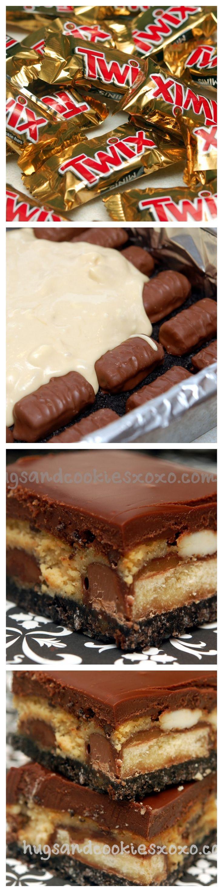 Twix Salted Caramel Cheesecake Bars