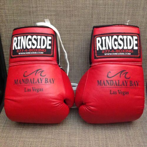 Ringside Boxing Professional Fight Gloves - Red & Black 10 OZ. Mandala Bay Logo
