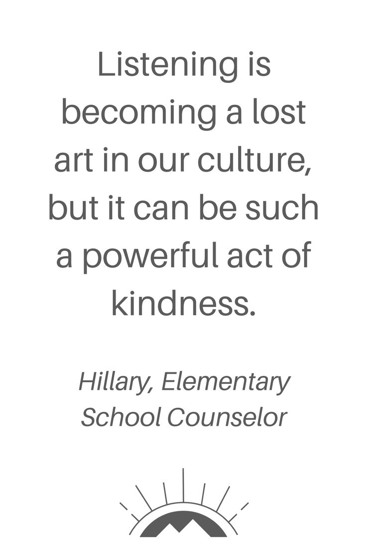 An Elementary School Counselor on Elementary School Kindness