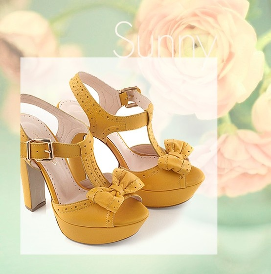 Chaniotakis | Sunglow Leather High-heel with Bow