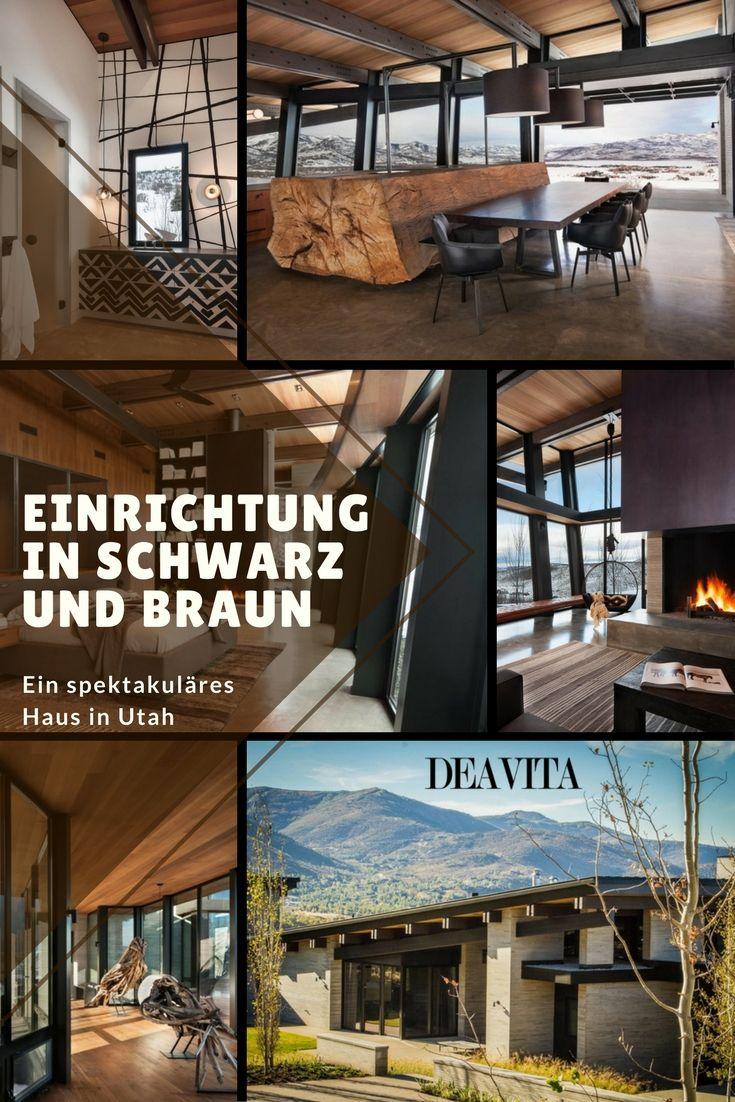 Das Innendesign dieses spektakulären Hauses in den Bergen Utahs ist ...