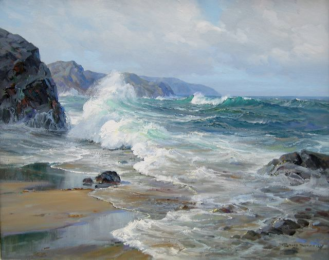 """Charles Vickery - Untitled Seascape, 20"""" x 24"""" oil on canvas"""