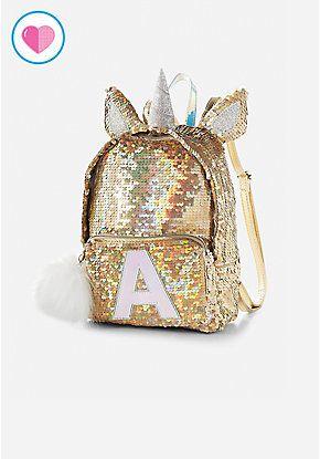 Unicorn Initial Flip Sequin Mini Backpack  9f57d0fcfc9c6