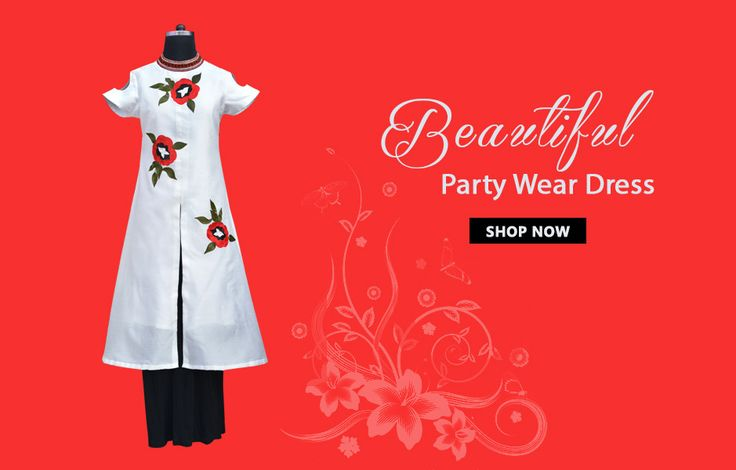 Beautiful Party Wear Dress ZZD-011 By Zet Zone ||  Look Gorgeous At An Upcoming Family Function By Wearing This Dress From This Zet Zone. Featuring Eye-Catching Embroidery & Embroidered Stand Collar Neckline, This Dress Comes With Black Straight Skirt. The Raw Silk Upper And Hosiery Skirt Will Keep You Comfortable All Day Long.