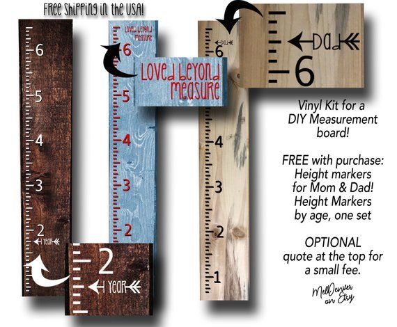 Vinyl Diy Kit For Measurement Board Height Stick Height Pictures Growth Chart Ruler High Quality Vinyl Free Shipping I Growth Chart Ruler Diy Vinyl Diy Kits