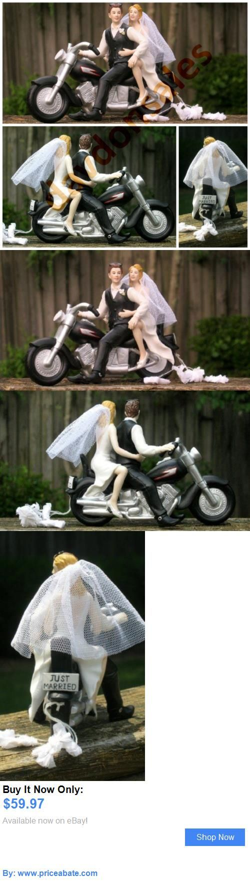 Wedding Cakes Toppers: Motorcycle Biker Wedding Cake Topper Harley Davidson Groom Bride Couple Gift New BUY IT NOW ONLY: $59.97 #priceabateWeddingCakesToppers OR #priceabate