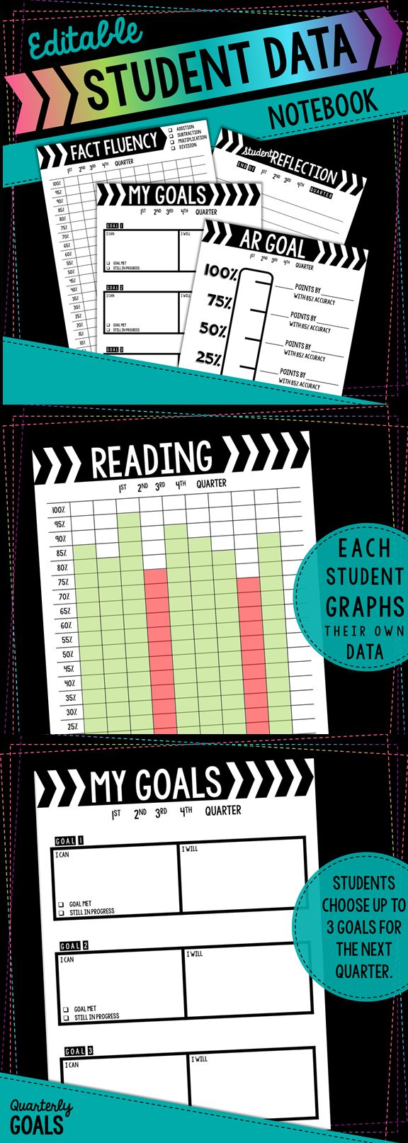 Have students track their own data using this easy to use student data notebook!