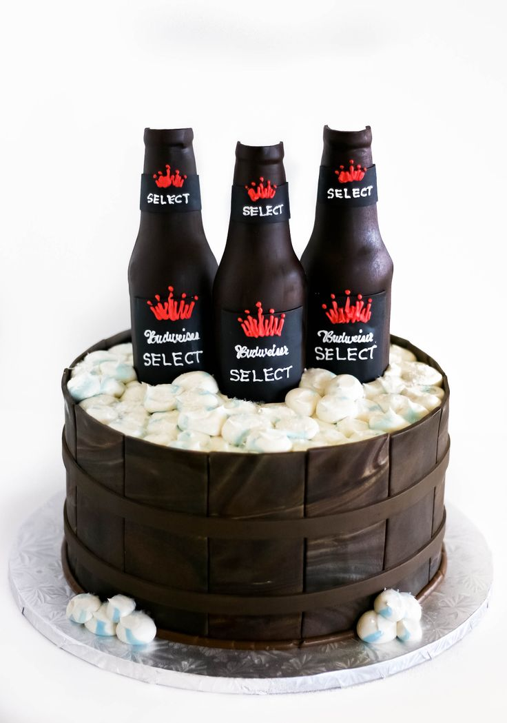 #Budweiser Select #GroomsCake!  Custom cakes from Sarah's Cake Shop in Chesterfield, MO www.sarahscakeshopstl.com @sarahscakeshop