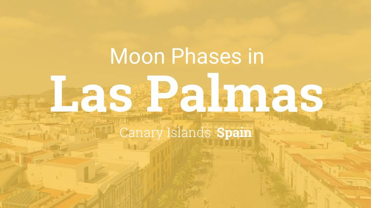 Moon Phases for Las Palmas, Spain - Canary Islands in year 2016