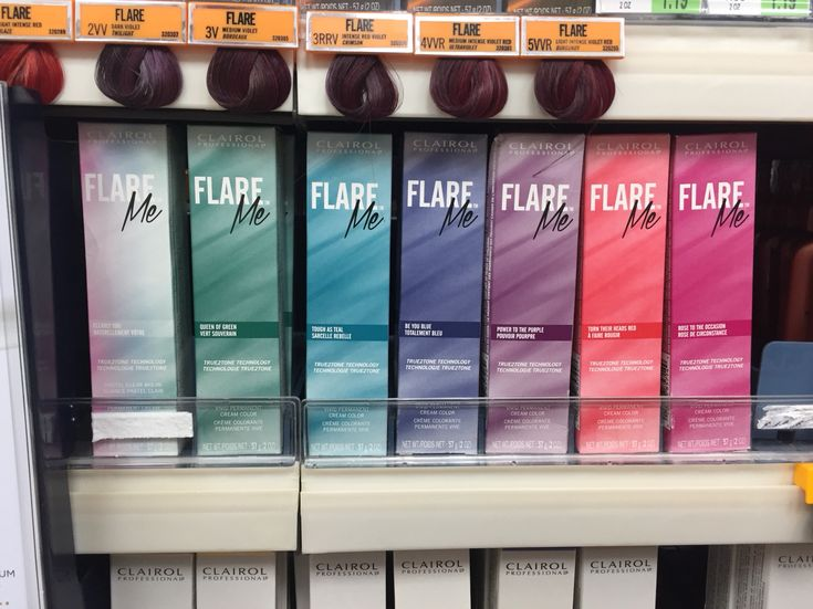 Clairol Flare Me permanent hair dye in fashion colors -- whaaat!!