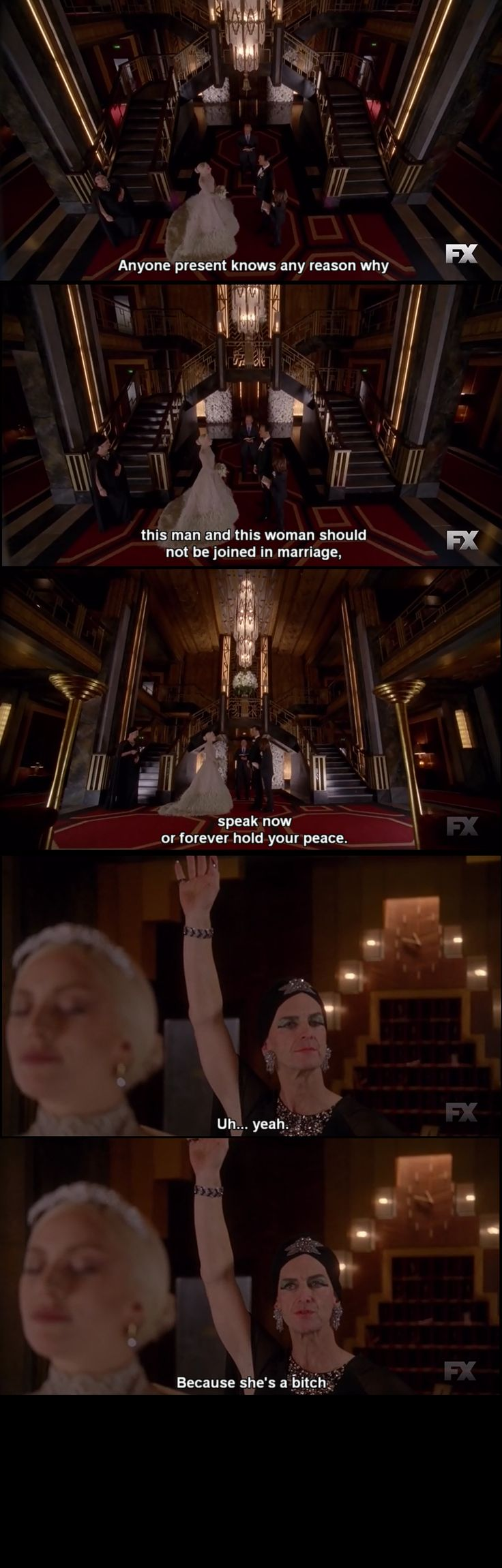 American Horror Story : Hotel This will be me at a wedding... my best friends wedding