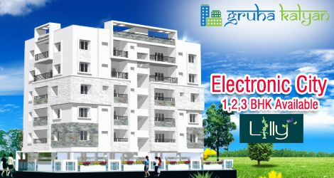 GruhaKalyan LILLY at Electronic City, Bangalore Available G+5 structure 1,2& 3BHK Flats/Apartments Price Starts from 9Lakha On wards.